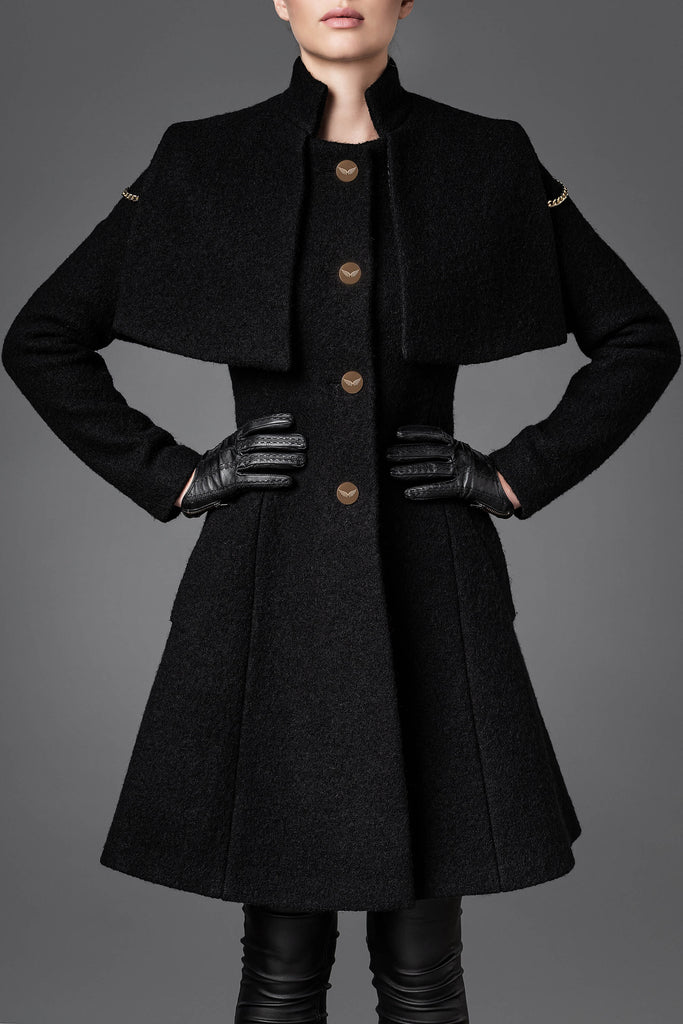 Women's  Wool Coat - Harmony Black
