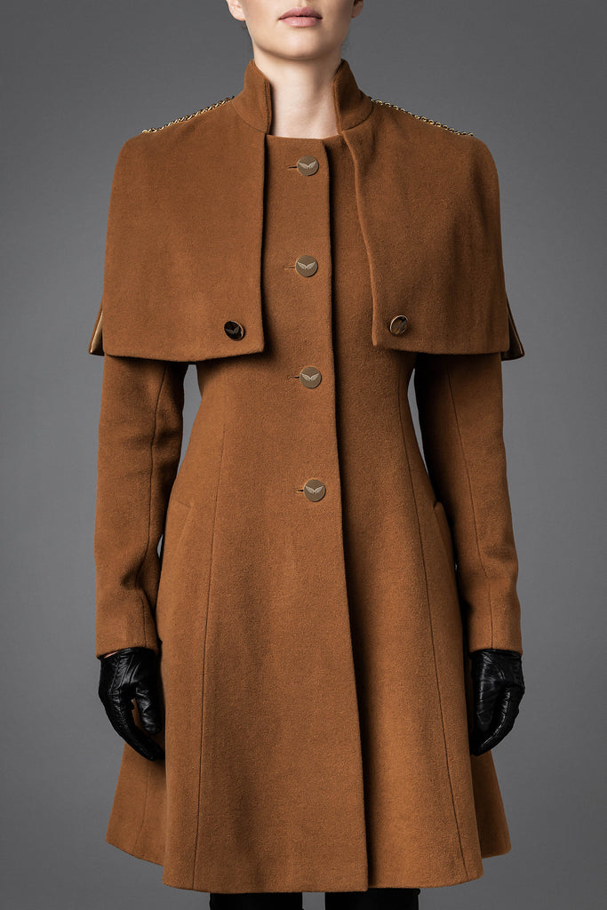 Women's Wool Coat - Harmony Camel
