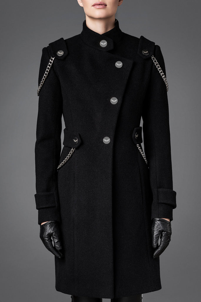Women's Wool Coat - Independence Black