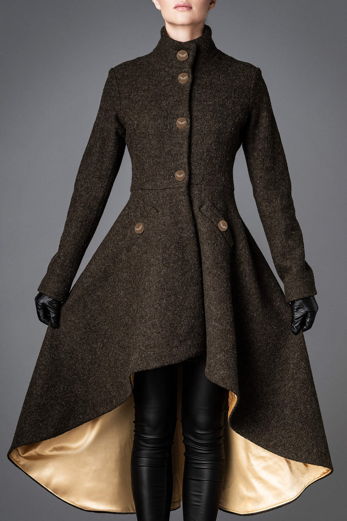 Women's Wool Coat - Loyalty Olive Green