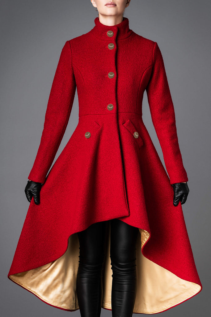 Women's Wool Coat - Loyalty Red