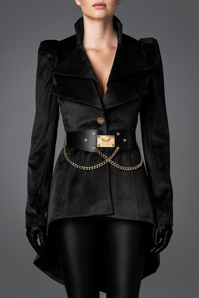 Women's Velvet Jacket - Wisdom Black