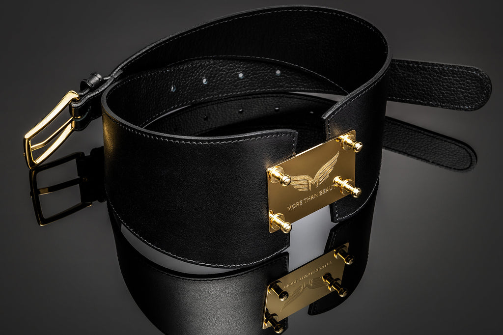Women's Leather Fashion Belt - Kindness Gold