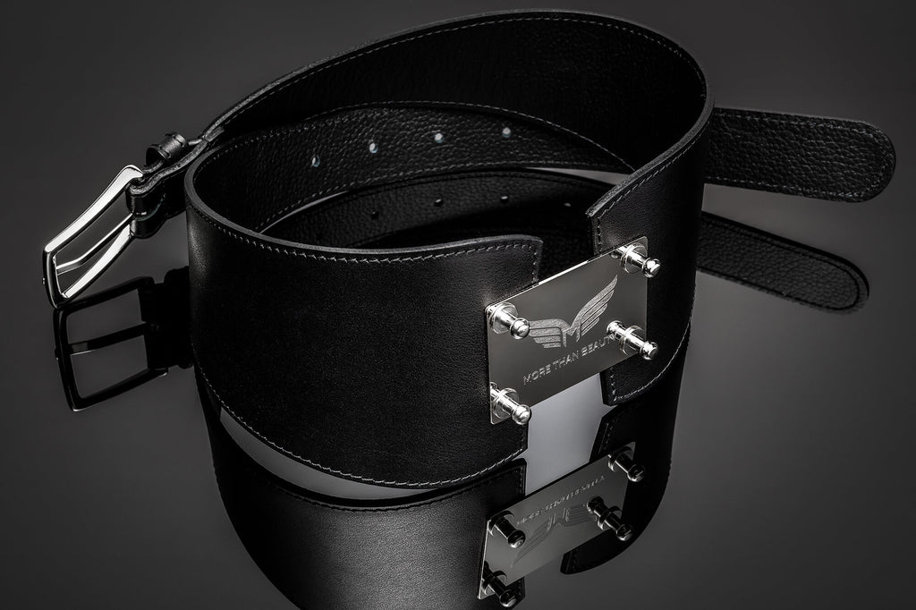 Women's Leather Fashion Belt - Kindness Silver
