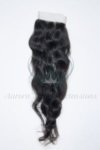 Raw Indian Temple Curly Closure