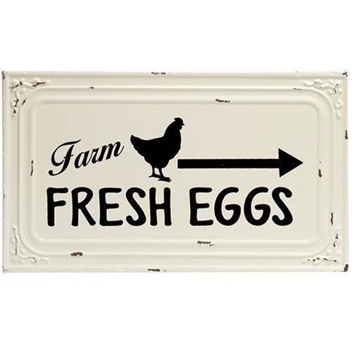 Farm Fresh Eggs Enamel Sign