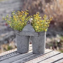 Washed Galvanized Flower Cans