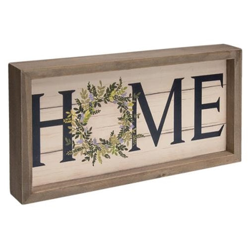 Framed Spring Lilac Home Sign