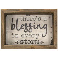 Load image into Gallery viewer, Blessing in Every Storm Box Sign