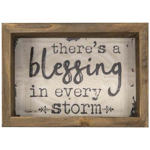 Blessing in Every Storm Box Sign