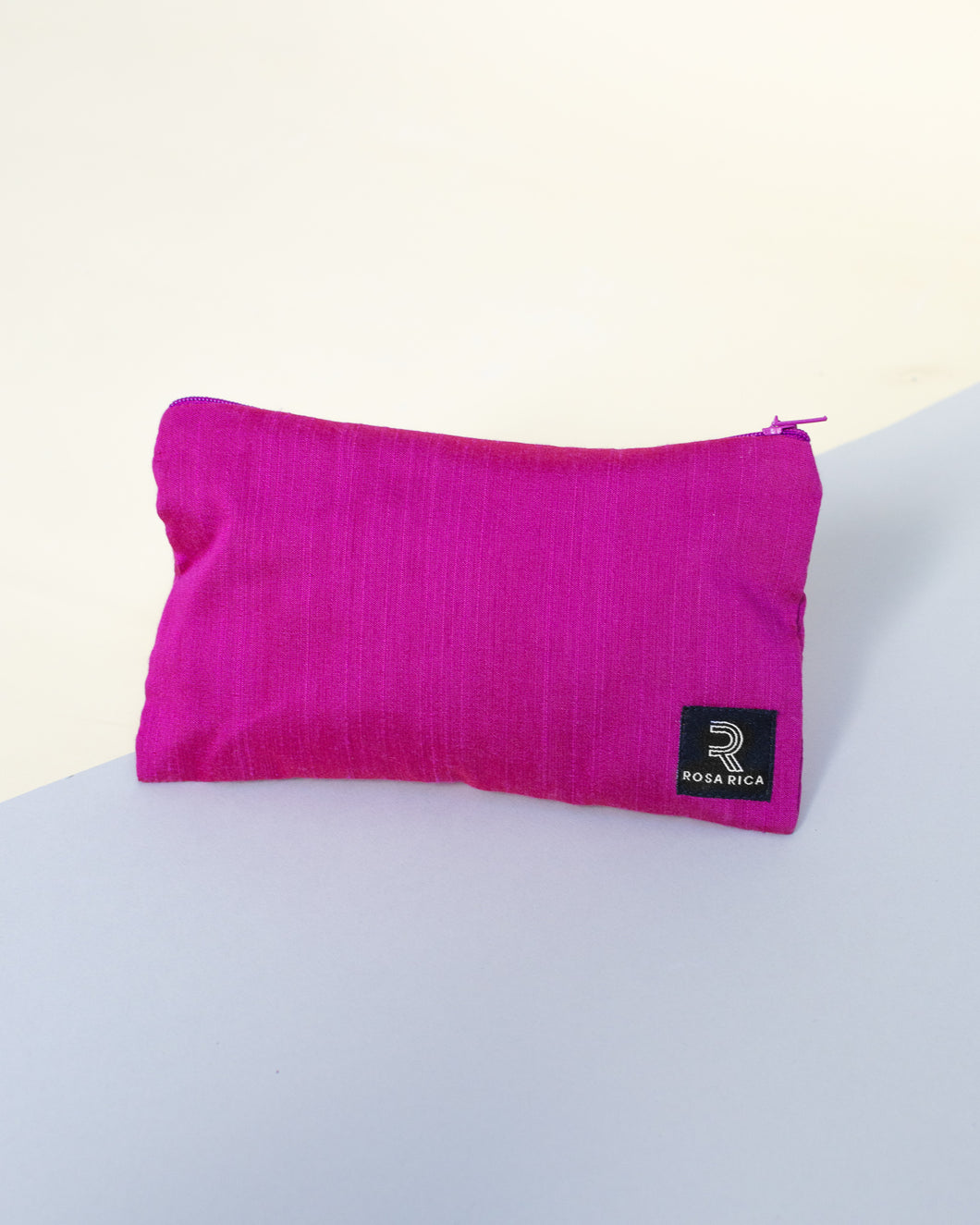 Raw Silk Travel Pouch (Rose Pink) - Fits 6 x 10ml bottles