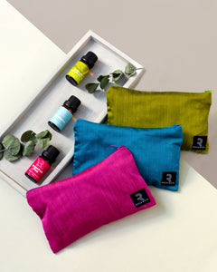 Raw Silk Travel Pouch (Olive Green) - Fits 6 x 10ml bottles