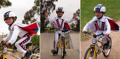 Evel Knievel Rides Again... On A ByK Kids Bike