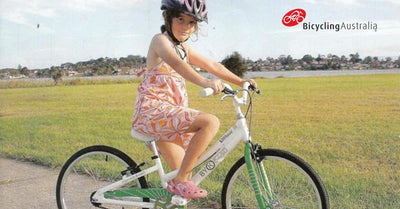"Bicycling Australia Reviews the E-450 - ""The Best Kids Bike on the Market"""