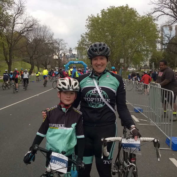 540R Rider with his Mum in the Around the Bay Bike Family Bike Ride