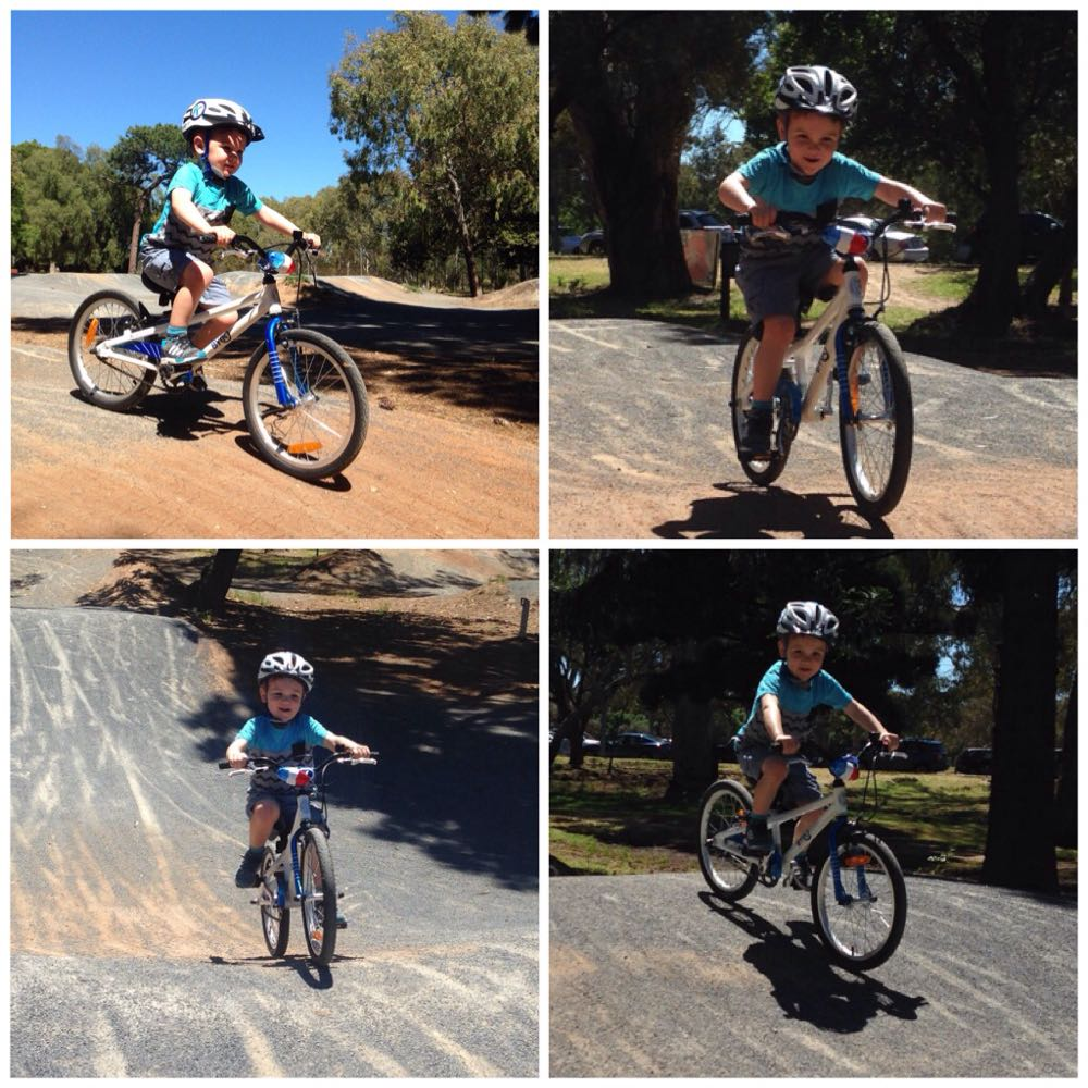 4 Year Old Riding BMX Pump Track