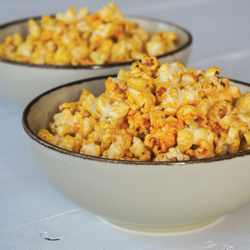 Selbstgemachtes Spicy-Curry-Popcorn