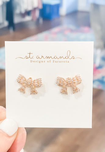St.Armands Gold Bow Mini Sparklers