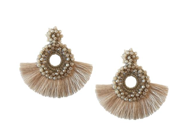 St. Armands | Fan Tassel Earrings {Champagne}