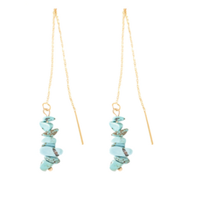 St.Armands Turquoise Threader Earrings