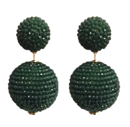St.Armands | Lido Sparkler Earrings {Green}
