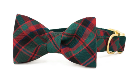 Crew La La | Holiday Plaid Bow Tie Collar