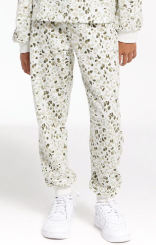 Z Supply Girls Ava Painted Leopard Jogger