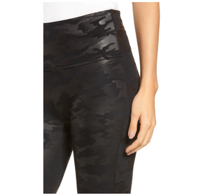 SPANX | Faux Leather Camo Leggings