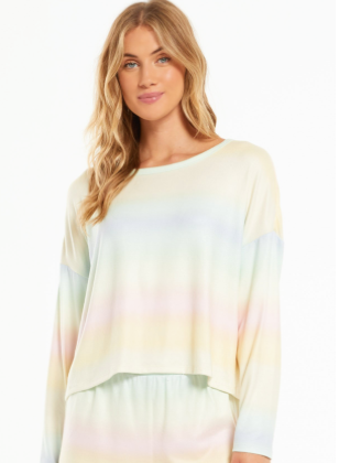 Z SUPPLY SKYLAR RAINBOW PULLOVER