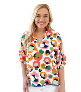 Emily McCarthy Collection | Poppy Top {Multi Cheetah}