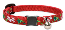 "Load image into Gallery viewer, Lupine ""Christmas Cheer"" Pattern Cat Collar w/Bell from Cat Supplies and More"
