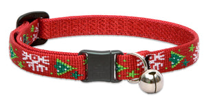 "Lupine ""Christmas Cheer"" Pattern Cat Collar w/Bell from Cat Supplies and More"