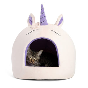Unicorn Novelty Cat Hut from Cat Supplies and More