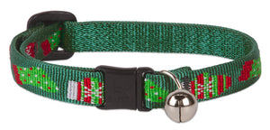 "Lupine ""Stocking Stuff"" Pattern Cat Collar w/Bell from Cat Supplies and More"