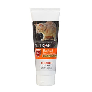 Nutri-Vet Hairball Paw-Gel for Cats - Chicken Flavor