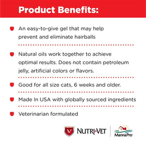 Nutri-Vet Hairball Paw-Gel for Cats Chicken Flavor from Cat Supplies and More