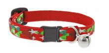 "Load image into Gallery viewer, Lupine ""Noel"" Pattern Cat Collar w/Bell from Cat Supplies and More"