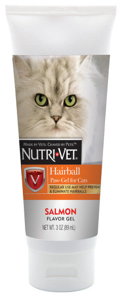 Nutri-Vet Hairball Gel Salmon Flavor from Cat Supplies and More