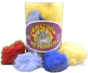 "Amazing Pet Products 2"" Fur Ball Cat Toy 3-pk from Cat Supplies and More"