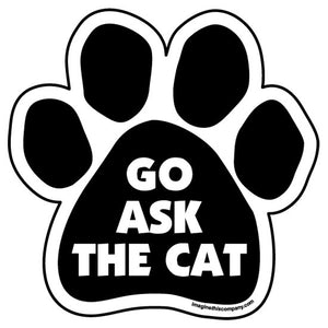 Go Ask the Cat Magnet from Cat Supplies and More