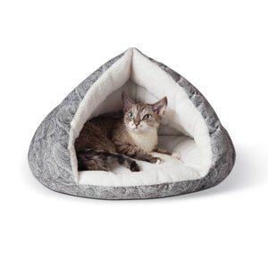 Self-Warming Semi-Private Cat Hut - Grey - from Cat Supplies and More