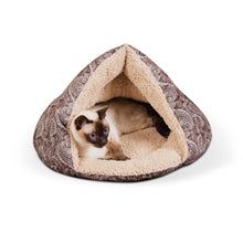 Load image into Gallery viewer, Self-Warming Semi-Private Cat Hut - Brown - from Cat Supplies and More