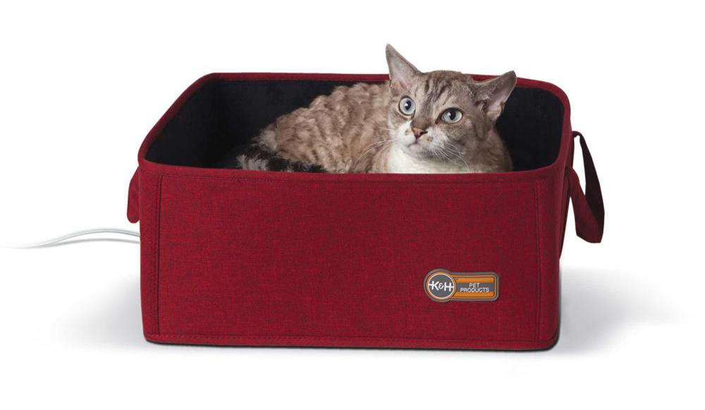 K&H Pet Products Thermo-Basket Box Pet Bed Red - Cat Supplies & More