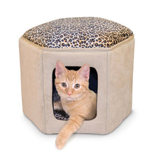 Load image into Gallery viewer, K&H Thermo-Kitty Sleephouse (Heated) with kitty from Cat Supplies and More