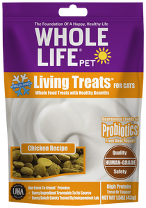 Living Treats with Probiotics for Cats