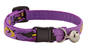"Lupine ""Haunted House"" Halloween Cat Collar with bell, from Cat Supplies and More"