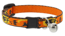 "Load image into Gallery viewer, Lupine ""Wicked"" Halloween Cat Collar with bell, from Cat Supplies and More"