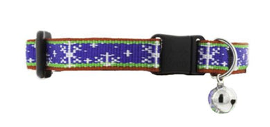 Lupine Winter & Christmas themed cat collar with bell