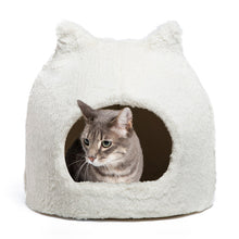 Load image into Gallery viewer, Fur Meow Hut Ivory front view, from Cat Supplies and More