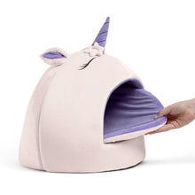 Load image into Gallery viewer, Unicorn Novelty Cat Hut from Cat Supplies and More